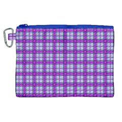 Purple Tartan Canvas Cosmetic Bag (xl)