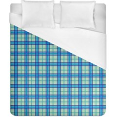 Sea Tartan Duvet Cover (california King Size)