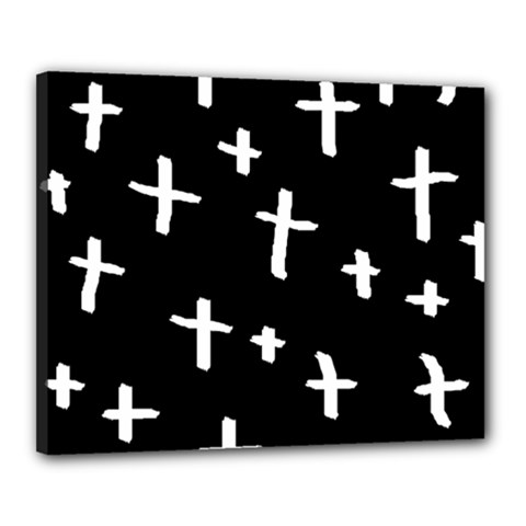 White Cross Canvas 20  X 16