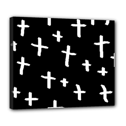White Cross Deluxe Canvas 24  X 20