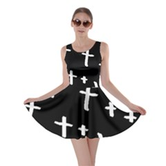 White Cross Skater Dress