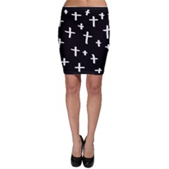 White Cross Bodycon Skirt