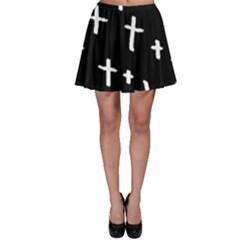 White Cross Skater Skirt