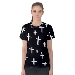 White Cross Women s Cotton Tee
