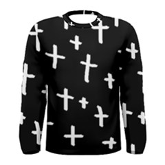 White Cross Men s Long Sleeve Tee