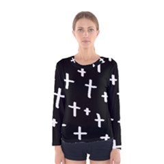 White Cross Women s Long Sleeve Tee