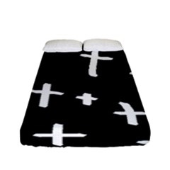 White Cross Fitted Sheet (full/ Double Size)
