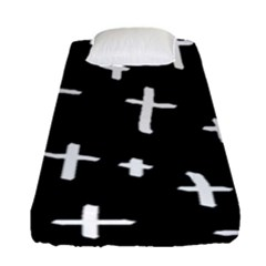 White Cross Fitted Sheet (single Size)