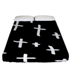 White Cross Fitted Sheet (queen Size)