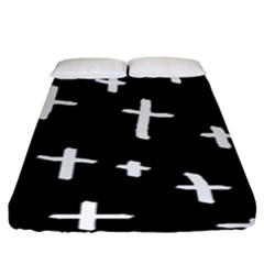 White Cross Fitted Sheet (king Size)