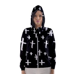 White Cross Hooded Wind Breaker (women)