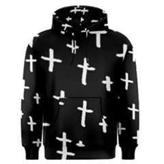 White Cross Men s Pullover Hoodie