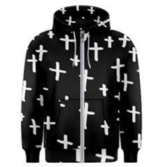 White Cross Men s Zipper Hoodie