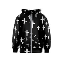 White Cross Kids  Zipper Hoodie