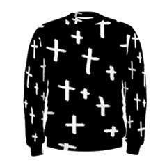 White Cross Men s Sweatshirt