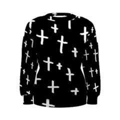 White Cross Women s Sweatshirt