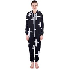 White Cross Hooded Jumpsuit (ladies)