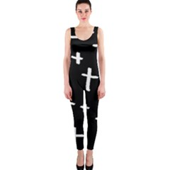 White Cross One Piece Catsuit