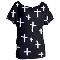 White Cross Women s Oversized Tee