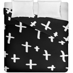 White Cross Duvet Cover Double Side (king Size)