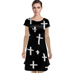 White Cross Cap Sleeve Nightdress
