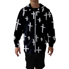 White Cross Hooded Wind Breaker (kids)