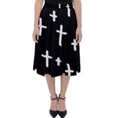 White Cross Folding Skater Skirt