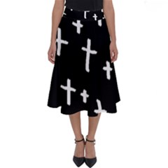 White Cross Perfect Length Midi Skirt