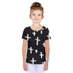White Cross Kids  One Piece Tee
