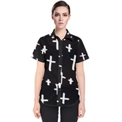 White Cross Women s Short Sleeve Shirt