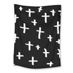 White Cross Medium Tapestry