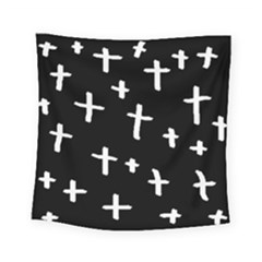 White Cross Square Tapestry (small)