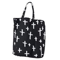 White Cross Giant Grocery Zipper Tote