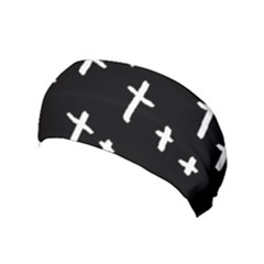 White Cross Yoga Headband