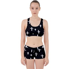 White Cross Work It Out Sports Bra Set