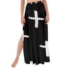 White Cross Maxi Chiffon Tie Up Sarong