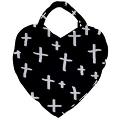 White Cross Giant Heart Shaped Tote
