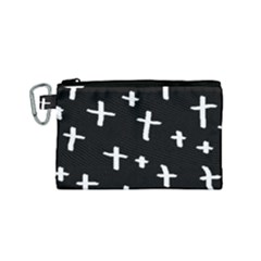 White Cross Canvas Cosmetic Bag (small)