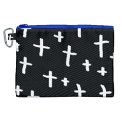 White Cross Canvas Cosmetic Bag (xl)