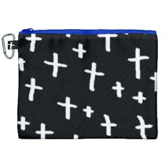 White Cross Canvas Cosmetic Bag (xxl)