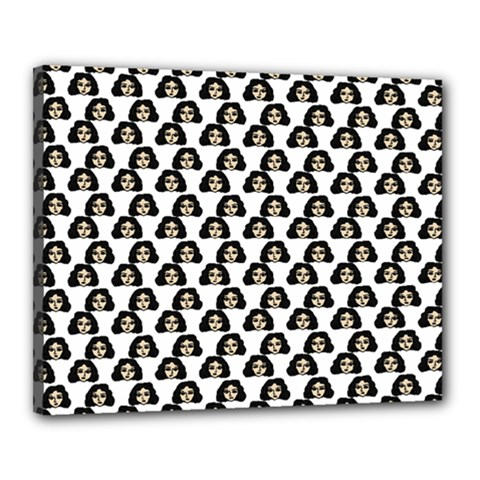 Angry Girl Pattern Canvas 20  X 16