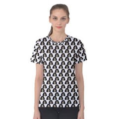 Angry Girl Pattern Women s Cotton Tee