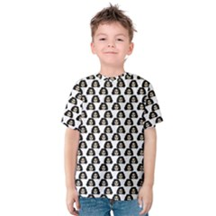 Angry Girl Pattern Kids  Cotton Tee