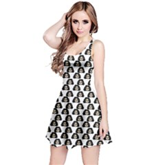 Angry Girl Pattern Reversible Sleeveless Dress