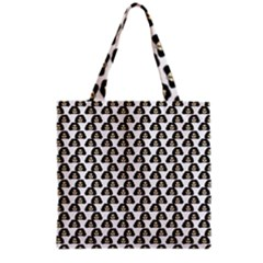 Angry Girl Pattern Grocery Tote Bag