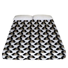 Angry Girl Pattern Fitted Sheet (california King Size)