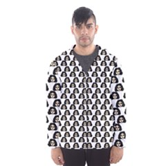 Angry Girl Pattern Hooded Wind Breaker (men)