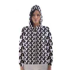Angry Girl Pattern Hooded Wind Breaker (women)