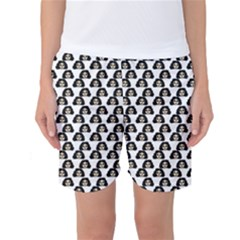 Angry Girl Pattern Women s Basketball Shorts