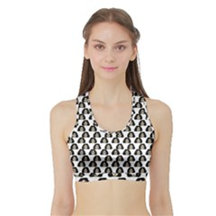 Angry Girl Pattern Sports Bra With Border